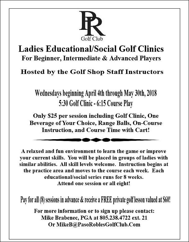 Ladies Clinic Spring 2018