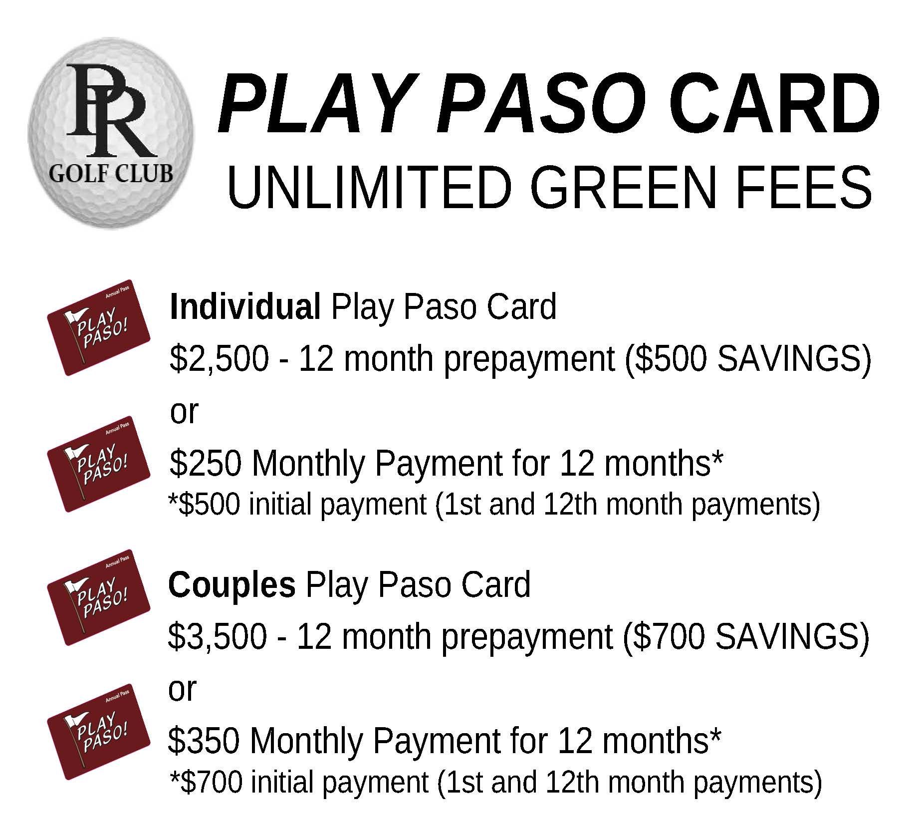 PLAY PASO CARD INFO